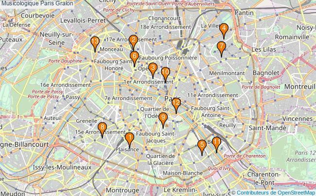 plan Musicologique Paris Associations musicologique Paris : 13 associations