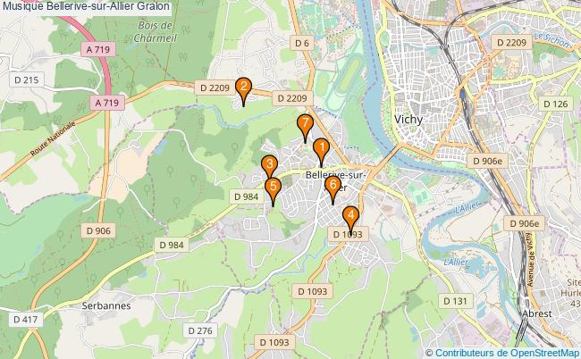 plan Musique Bellerive-sur-Allier Associations musique Bellerive-sur-Allier : 7 associations