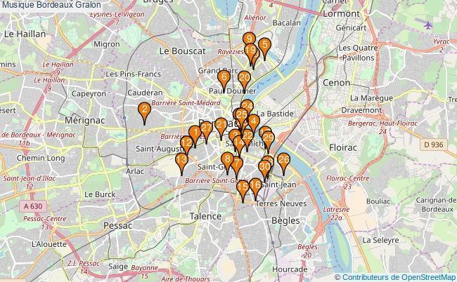 plan Musique Bordeaux Associations musique Bordeaux : 351 associations