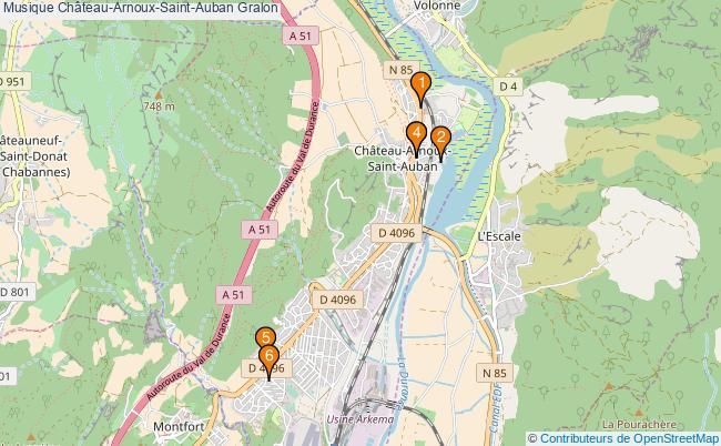plan Musique Château-Arnoux-Saint-Auban Associations musique Château-Arnoux-Saint-Auban : 6 associations