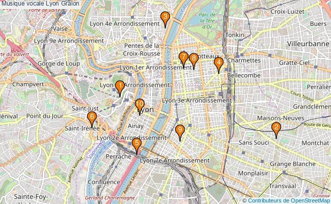 plan Musique vocale Lyon Associations musique vocale Lyon : 10 associations