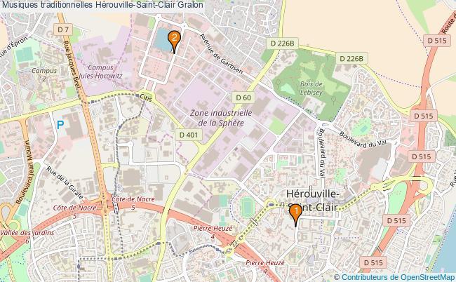 plan Musiques traditionnelles Hérouville-Saint-Clair Associations musiques traditionnelles Hérouville-Saint-Clair : 2 associations