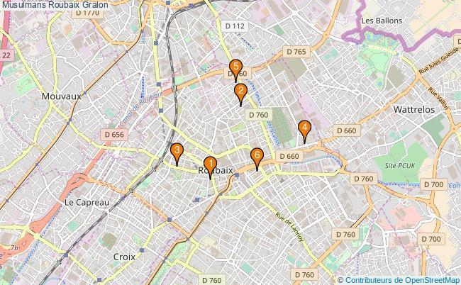 plan Musulmans Roubaix Associations musulmans Roubaix : 6 associations