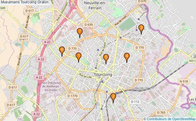 plan Musulmans Tourcoing Associations musulmans Tourcoing : 7 associations