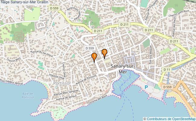 plan Nage Sanary-sur-Mer Associations nage Sanary-sur-Mer : 3 associations