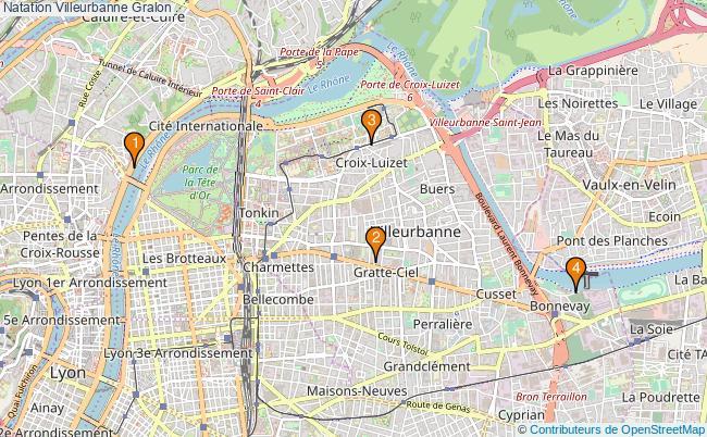 plan Natation Villeurbanne Associations natation Villeurbanne : 3 associations