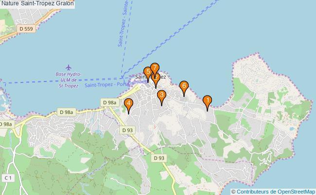 plan Nature Saint-Tropez Associations Nature Saint-Tropez : 7 associations