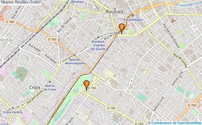 plan Négoce Roubaix Associations Négoce Roubaix : 2 associations