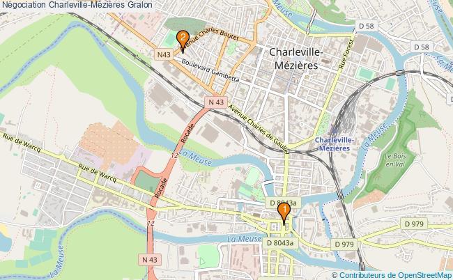 plan Négociation Charleville-Mézières Associations Négociation Charleville-Mézières : 2 associations
