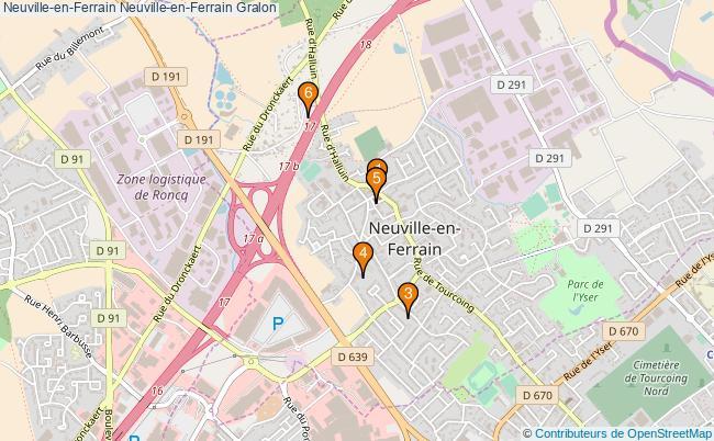 plan Neuville-en-Ferrain Neuville-en-Ferrain Associations Neuville-en-Ferrain Neuville-en-Ferrain : 6 associations
