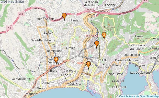 plan ONG Nice Associations ONG Nice : 5 associations