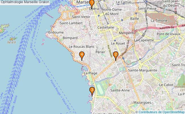plan Ophtalmologie Marseille Associations ophtalmologie Marseille : 4 associations