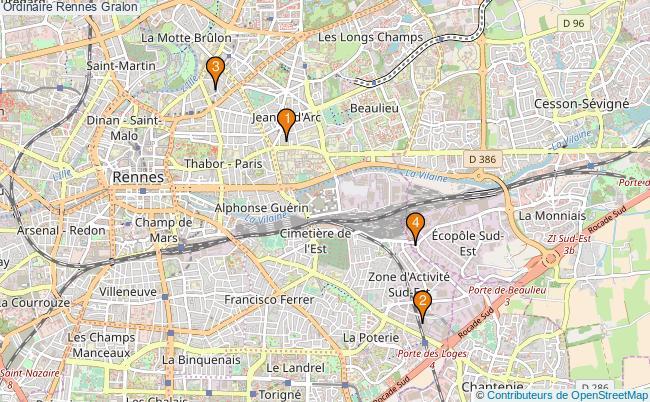 plan Ordinaire Rennes Associations Ordinaire Rennes : 4 associations