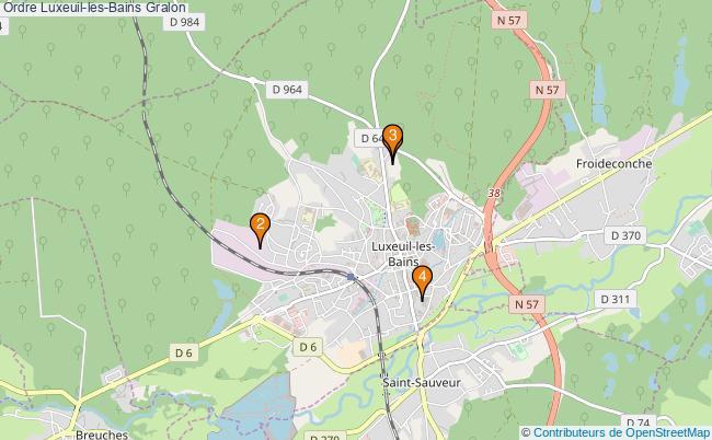 plan Ordre Luxeuil-les-Bains Associations ordre Luxeuil-les-Bains : 4 associations