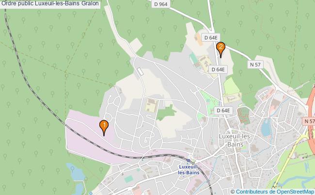plan Ordre public Luxeuil-les-Bains Associations ordre public Luxeuil-les-Bains : 2 associations