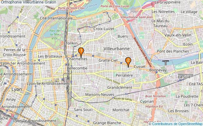 plan Orthophonie Villeurbanne Associations orthophonie Villeurbanne : 2 associations