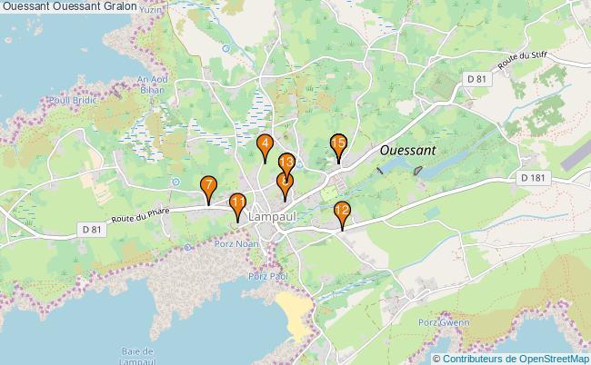 plan Ouessant Ouessant Associations Ouessant Ouessant : 15 associations