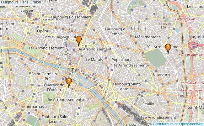 plan Ouïghours Paris Associations Ouïghours Paris : 4 associations