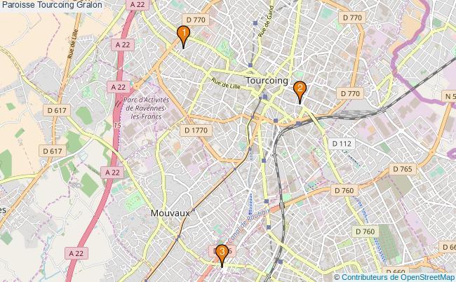 plan Paroisse Tourcoing Associations paroisse Tourcoing : 3 associations