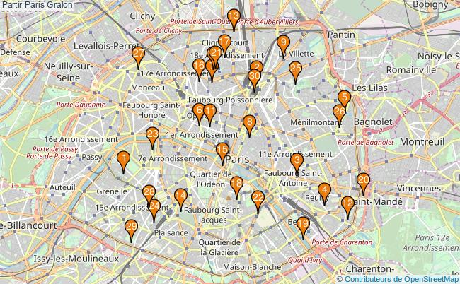plan Partir Paris Associations partir Paris : 342 associations