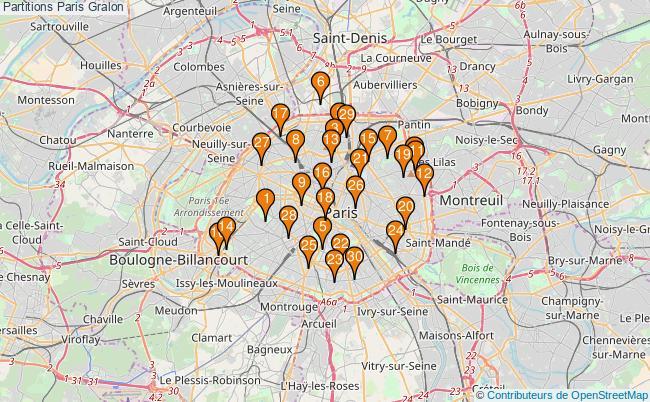 plan Partitions Paris Associations partitions Paris : 52 associations