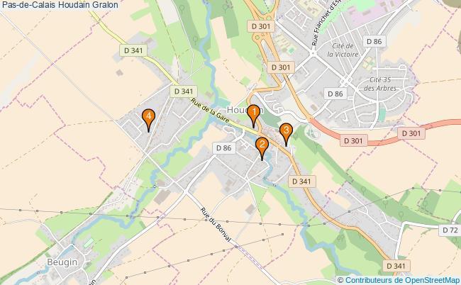 plan Pas-de-Calais Houdain Associations Pas-de-Calais Houdain : 4 associations