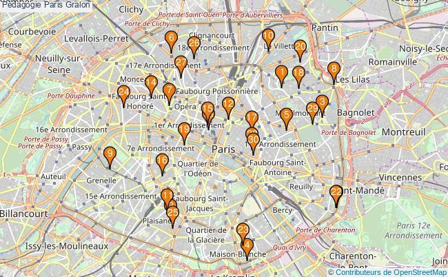 plan Pédagogie Paris Associations pédagogie Paris : 339 associations