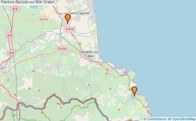 plan Peinture Banyuls-sur-Mer Associations peinture Banyuls-sur-Mer : 2 associations