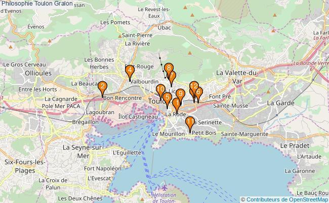 plan Philosophie Toulon Associations philosophie Toulon : 13 associations
