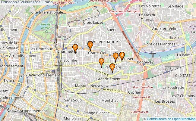 plan Philosophie Villeurbanne Associations philosophie Villeurbanne : 8 associations