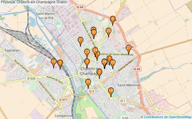 plan Physique Châlons-en-Champagne Associations physique Châlons-en-Champagne : 36 associations