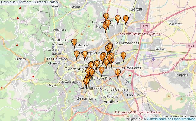 plan Physique Clermont-Ferrand Associations physique Clermont-Ferrand : 90 associations
