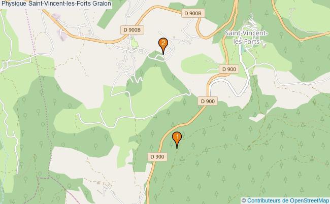 plan Physique Saint-Vincent-les-Forts Associations physique Saint-Vincent-les-Forts : 2 associations