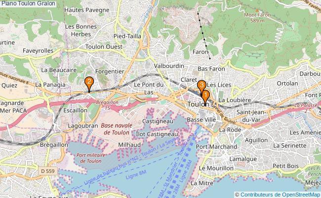 plan Piano Toulon Associations piano Toulon : 3 associations
