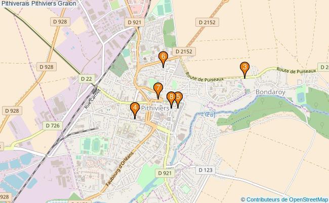 plan Pithiverais Pithiviers Associations Pithiverais Pithiviers : 8 associations