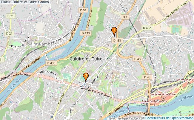 plan Plaisir Caluire-et-Cuire Associations Plaisir Caluire-et-Cuire : 2 associations