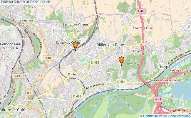 plan Plateau Rillieux-la-Pape Associations plateau Rillieux-la-Pape : 2 associations