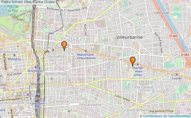 plan Plates-formes Villeurbanne Associations plates-formes Villeurbanne : 2 associations