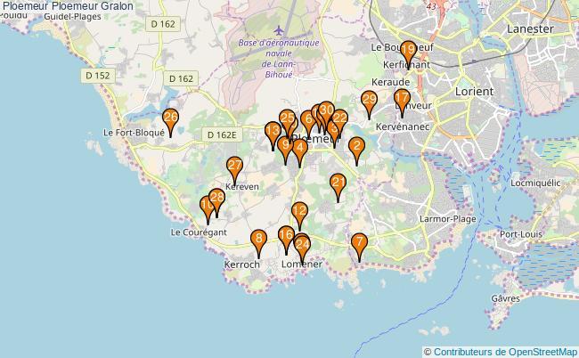 plan Ploemeur Ploemeur Associations Ploemeur Ploemeur : 37 associations