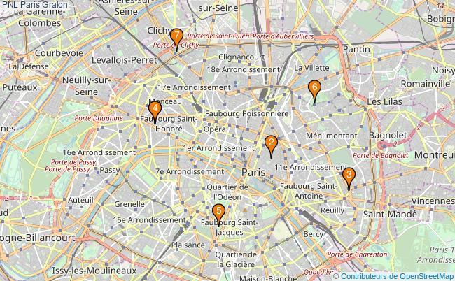 plan PNL Paris Associations PNL Paris : 8 associations