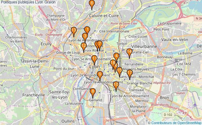 plan Politiques publiques Lyon Associations politiques publiques Lyon : 18 associations