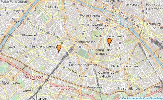 plan Pollen Paris Associations pollen Paris : 2 associations