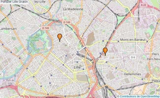 plan Pompier Lille Associations pompier Lille : 2 associations