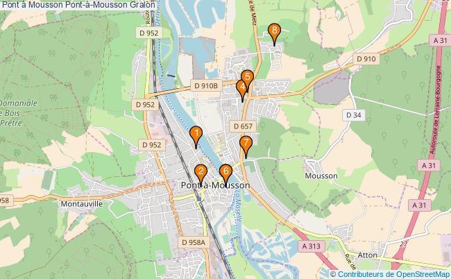plan Pont à Mousson Pont-à-Mousson Associations Pont à Mousson Pont-à-Mousson : 7 associations