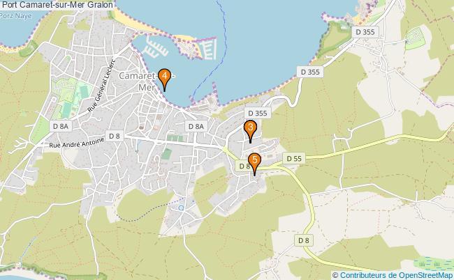 plan Port Camaret-sur-Mer Associations Port Camaret-sur-Mer : 5 associations