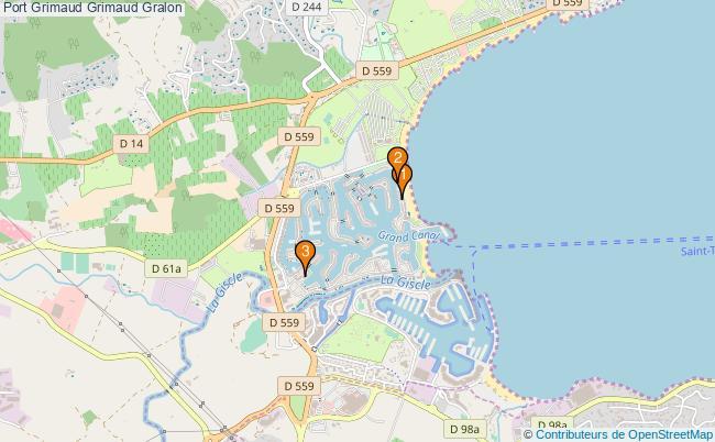 plan Port Grimaud Grimaud Associations Port Grimaud Grimaud : 3 associations