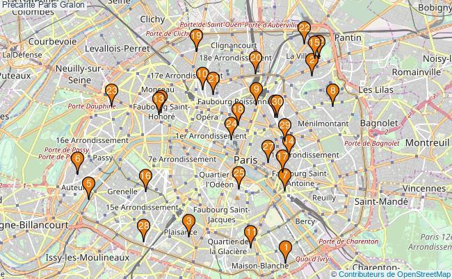 plan Précarité Paris Associations précarité Paris : 325 associations