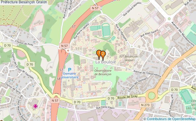 plan Préfecture Besançon Associations préfecture Besançon : 2 associations