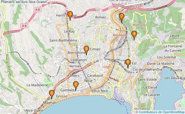plan Premiers secours Nice Associations premiers secours Nice : 8 associations