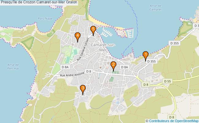 plan Presqu'île de Crozon Camaret-sur-Mer Associations Presqu'île de Crozon Camaret-sur-Mer : 6 associations